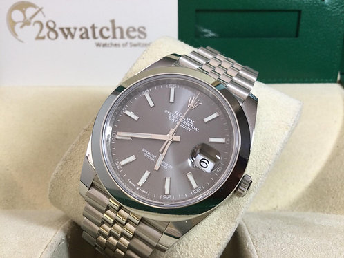 Pre-Owned Rolex Datejust 126300 Grey 二手,2021年,新卡  - 銅鑼灣店