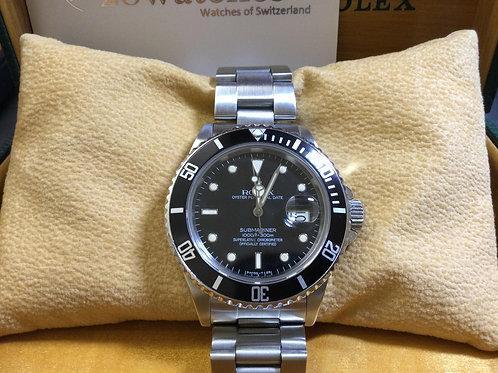 Pre-Owned Rolex Submariner Date 16800 淨錶,停產,T25面  - 銅鑼灣店