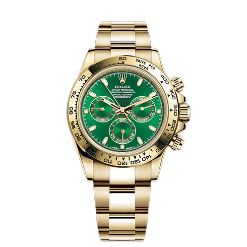 Rolex Daytona 116508 Green-0013, 綠面, 蠔式40毫米18ct黃金錶殼