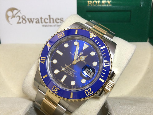 Pre-Owned Rolex Submariner Date 116613LB 二手,新卡  - 銅鑼灣店