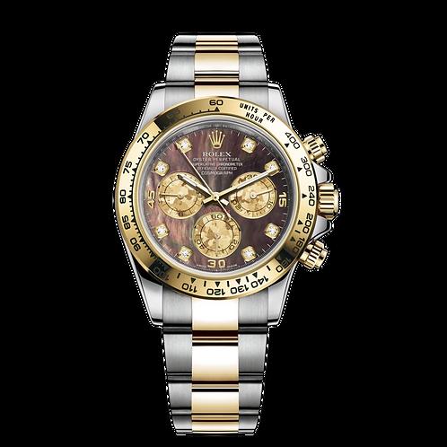 Rolex Daytona 116503NC.8DI-0009, 黃金鋼錶殼, 18ct黃金固定外圈, 黑色珍珠母鑲有鑽石錶面