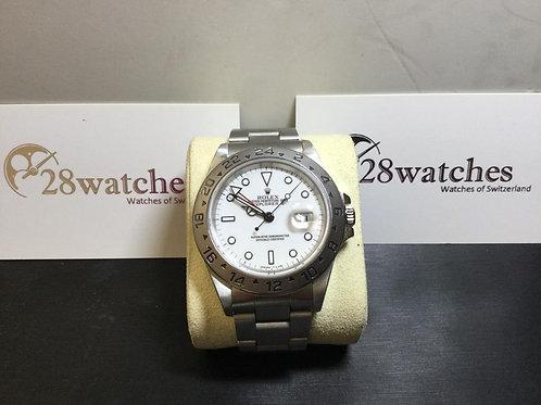 Pre-Owned Rolex Explorer II16570 WHT 二手,淨錶,停產- 銅鑼灣店