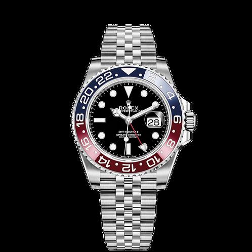 Rolex GMT Master II 126710BLRO-0001, 蠔式鋼錶殼, 黑色錶面, 紅藍雙色陶質字圈.