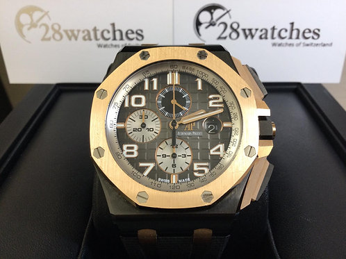 Pre-Owned A.P Royal Oak Offshore Chronograph 26405NR.OO.A002CA.01 二手  - 銅鑼灣店