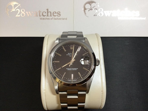 Pre-Owned Rolex Oyster Perpetual Date 15200 BLK 二手,淨錶,停產,S頭  - 銅鑼灣店