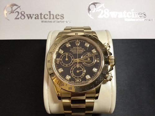 Pre-Owned Rolex Daytona 116528G BLK 二手,淨錶  - 銅鑼灣店