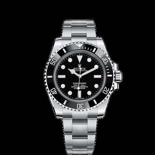 Rolex Submariner 114060-0002, 蠔式鋼錶殼, 60分鐘刻度陶質字圈, 黑色錶面.
