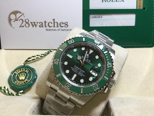 Pre-Owned Rolex Submariner Date 116610LV 二手行貨,亂碼,內影,停產,齊格,藍光  - 銅鑼灣店