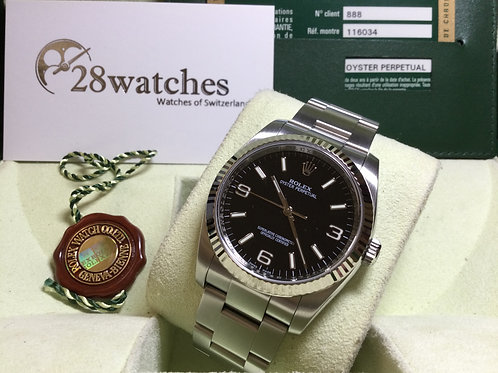 Pre-Owned Rolex Oyster Perpetual 116034 二手,行貨 - 銅鑼灣店