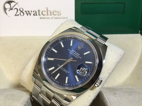 Pre-Owned Rolex Datejust 126300-0001 BLUE 二手,新保卡,齊格,藍光,亂碼,白牌 - 銅鑼灣店