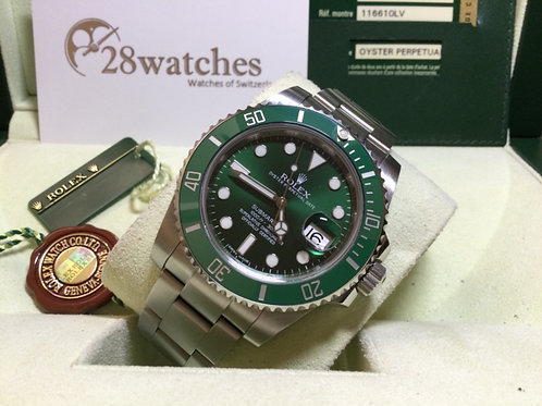 Pre-Owned Rolex Submariner Date 116610LV 二手行貨,停產   - 銅鑼灣店