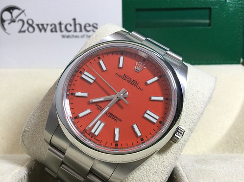 Pre-Owned Rolex Oyster Perpetual 124300 Red 二手  - 銅鑼灣店