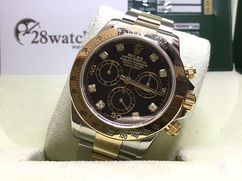Pre-Owned Rolex Daytona 116523 BLK 二手,停產,Z頭  - 銅鑼灣店