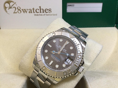 Pre-Owned Rolex Yacht-Master 268622 Grey 二手行貨,AD發票,五年保養,停產,5個月錶  - 銅鑼灣店