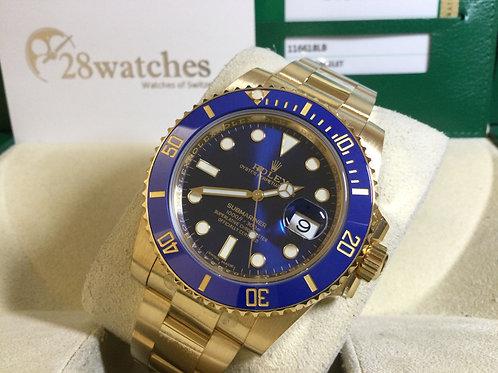 Pre-Owned Rolex Submariner Date 116618LB 二手,大部份膠紙,停產款  - 銅鑼灣店