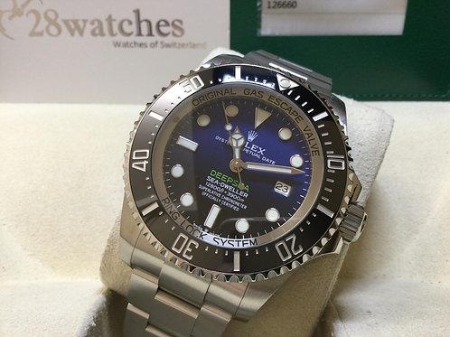 Pre-Owned Rolex Sea-Dweller Deepsea 126660 BLUE 二手 - 銅鑼灣店