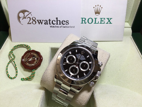 Pre-Owned Rolex Daytona 116520 二手行貨,停產,齊格,K頭  - 銅鑼灣店