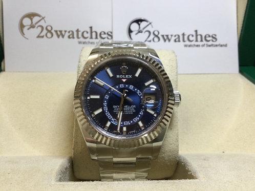 Brand new Rolex Sky-Dweller 326934 Blue 全新 NXW050- 銅鑼灣店