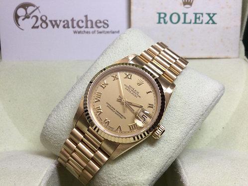 Pre-Owned Rolex Datejust 68278 Yellow 二手行貨,AD發票,停產,N頭,帶直,18K Yellow Gold - 銅鑼灣店