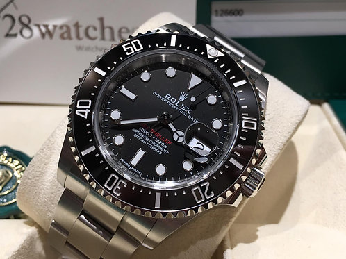 【銅鑼灣店】二手 Rolex Sea-Dweller 126600 Mark 1「五年保養」