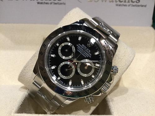 【銅鑼灣店】二手 Rolex Daytona 116520 「停產」「有上行紙」「額外兩年保養」