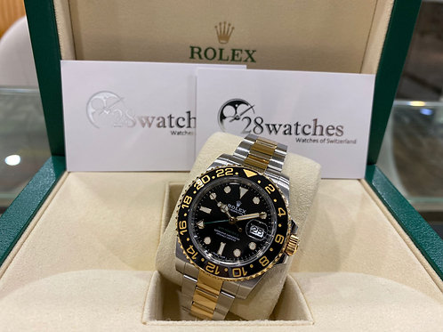 Pre-Owned Rolex GMT-Master II 116713LN 二手 AD發票 五年保養 亂碼 內影 停產 齊格 藍光 齊吊牌 - 尖沙咀店