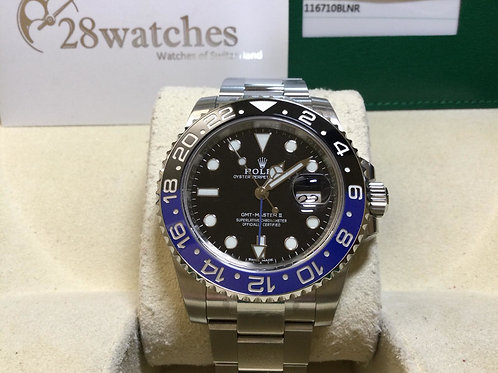 NOS Rolex GMT-Master II 116710BLNR 未用品,行貨,五年保養,齊膠紙,尾期,光扣,停產,齊格 - 銅鑼灣店