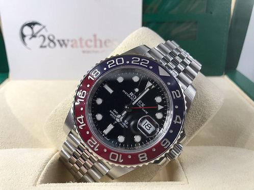 NOS Rolex GMT-Master II 126710BLRO 未用品,五年保養,齊膠紙 - 銅鑼灣店
