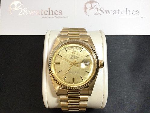 Pre-Owned Rolex Day-Date 1803 二手,淨錶,膠面,停產  - 銅鑼灣店