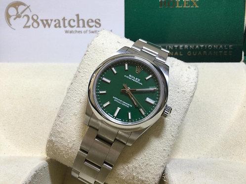 Pre-Owned Rolex Oyster Perpetual 277200 Green 二手,新卡,五年保養,一個月錶  - 銅鑼灣店