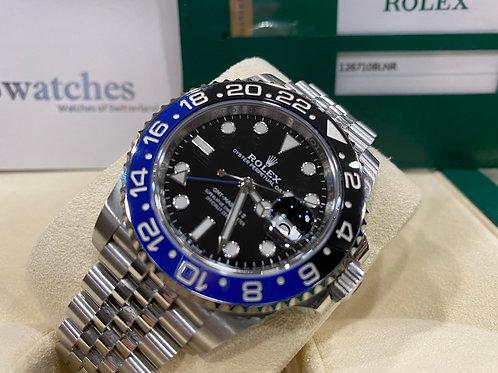【尖沙咀店】二手 Rolex GMT-Master II 126710BLNR「五年保養」「亂碼」「內影」「藍光」