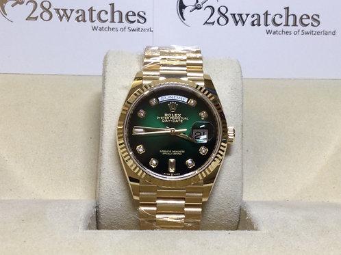 Brand new Rolex Day-Date 128238A Green 全新  - 銅鑼灣店