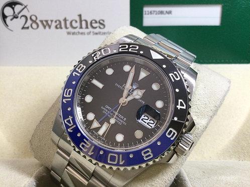 Pre-Owned Rolex GMT-Master II 116710BLNR 二手行貨,亂碼,停產,齊格,藍光 - 銅鑼灣店