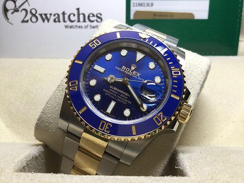 Pre-Owned Rolex Submariner Date 116613LB 二手,亂碼,停產,齊格,藍光 - 銅鑼灣店