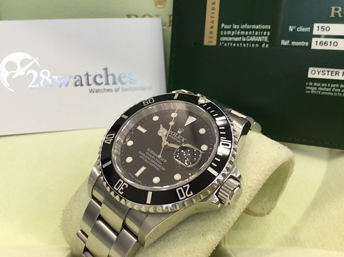 【銅鑼灣店】二手 Rolex Submariner Date 16610LN「停產」