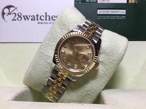 Pre-Owned Rolex Datejust 179173 二手行貨,AD發票,尾期,亂碼,內影,齊格  - 銅鑼灣店