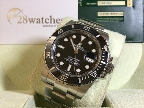 Pre-Owned Rolex Submariner Date 116610LN 二手行貨,AD發票  - 銅鑼灣店