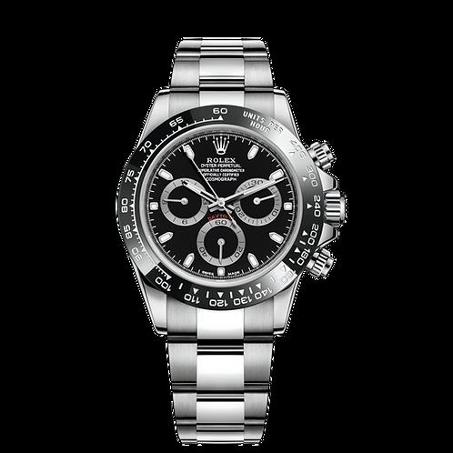 Rolex Daytona 116500 black-0002, 蠔式鋼錶殼, 黑色陶質外圈, 黑色錶面