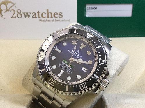 Pre-Owned Rolex Sea-Dweller Deepsea 126660 BLUE 二手行貨,AD發票,齊格 - 銅鑼灣店