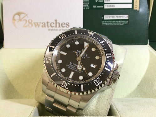 Pre-Owned Rolex Sea-Dweller Deepsea 116660 Black 二手行貨,AD發票,停產,玻璃,夜光珠,少量花痕   - 銅鑼
