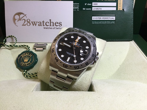 Pre-Owned Rolex Explorer II 216570 BLK 二手行貨,停產 - 銅鑼灣店