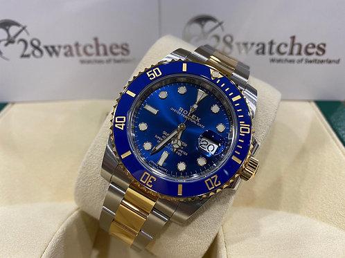 Pre-Owned Rolex Submariner Date 116613LB 二手行貨,五年保養,亂碼,內影,停產,藍光,齊吊牌 - 尖沙咀店