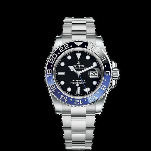 Rolex GMT Master II 116710BLNR, 蠔式鋼, 藍黑雙色陶質字圈, 3186型機芯.