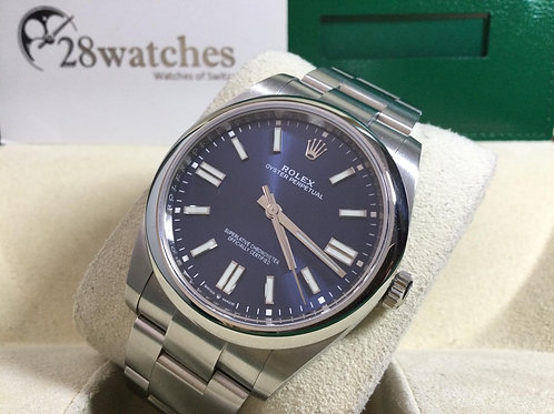 Pre-Owned Rolex Oyster Perpetual 124300 BLUE 二手行貨,AD發票,新卡,齊格 - 銅鑼灣店