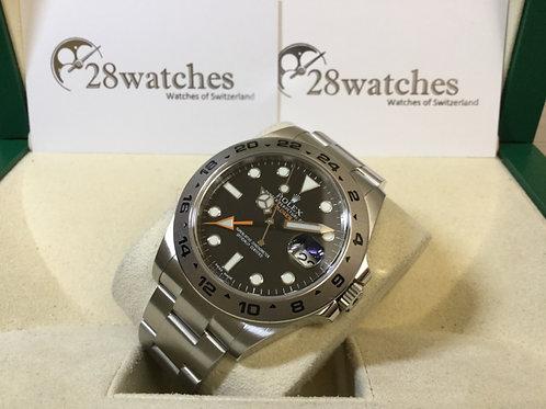 【銅鑼灣店】二手 Rolex Explorer II 216570 black 「行貨」「五年保養」