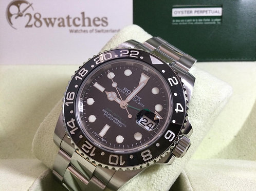 Pre-Owned Rolex GMT-Master II 116710LN 二手行貨,Stink Dial,對期,量少,內影,停產,齊格,V頭  - 銅鑼灣店