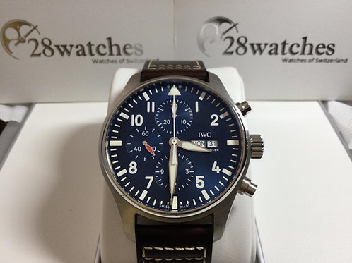 Pre-Owned IWC Pilot Chronograph IW377714 二手 - 銅鑼灣店