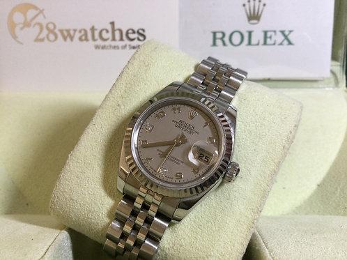 Pre-Owned Rolex Datejust 179174 二手行貨,AD發票,貝殼面,石字  - 銅鑼灣店