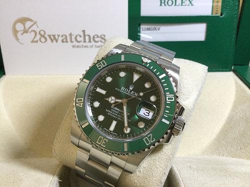 Pre-Owned Rolex Submariner Date 116610LV 二手行貨  - 銅鑼灣店