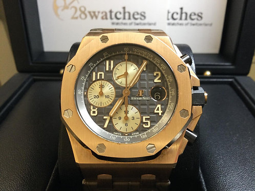 Pre-Owned A.P Royal Oak Offshore Chronograph 26470OR.OO.A125CR.01 二手,透底 - 銅鑼灣店